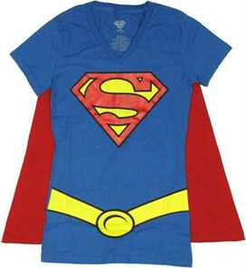 Supergirl Glitter Logo Cape Baby Tee