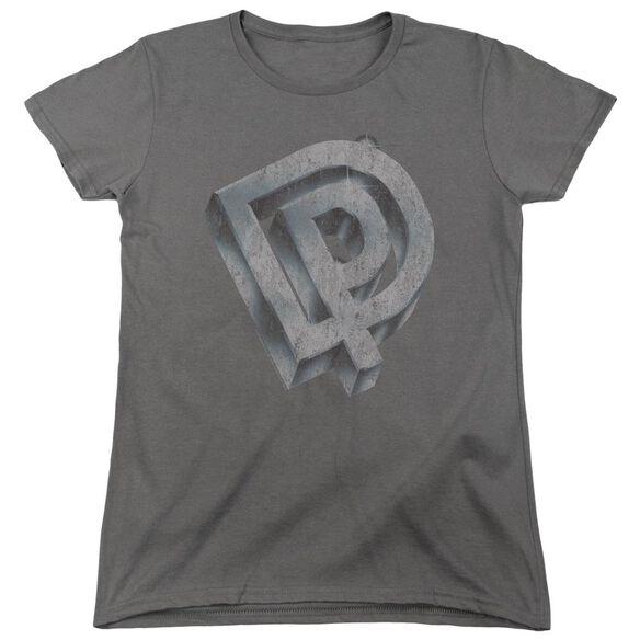 Deep Purple Dp Logo Short Sleeve Womens Tee T-Shirt