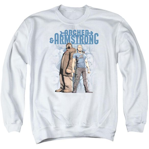 Archer & Armstrong Two Against All Adult Crewneck Sweatshirt