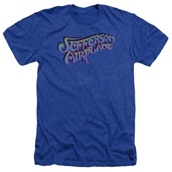 Jefferson Airplane Gradient Logo Adult Heather Royal