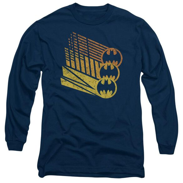 Batman Bat Signal Shapes Long Sleeve Adult T-Shirt