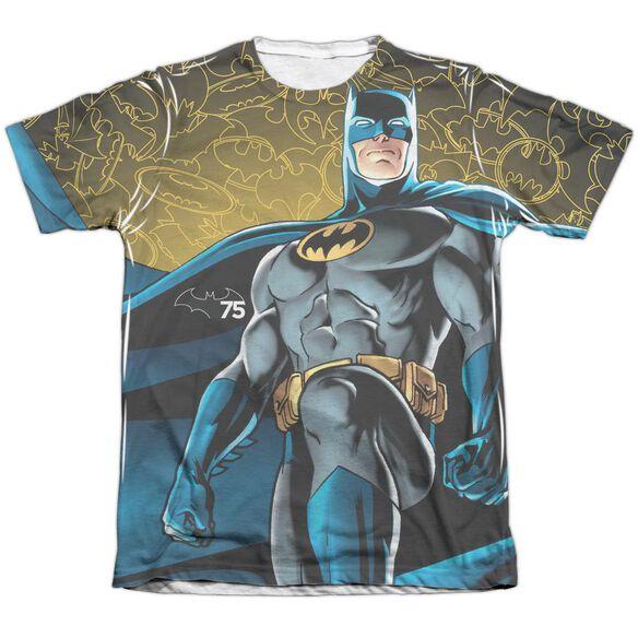 Batman 75 Glow Adult Poly Cotton Short Sleeve Tee T-Shirt
