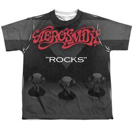 Aerosmith Rocks Short Sleeve Youth Poly Crew T-Shirt