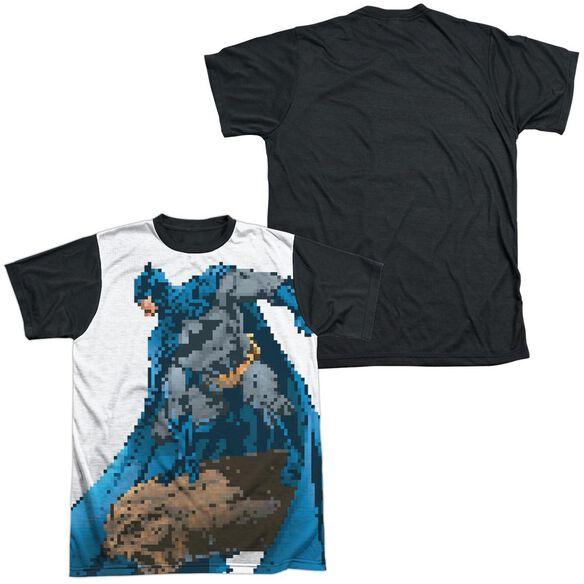 Batman Batbit Short Sleeve Adult Front Black Back T-Shirt