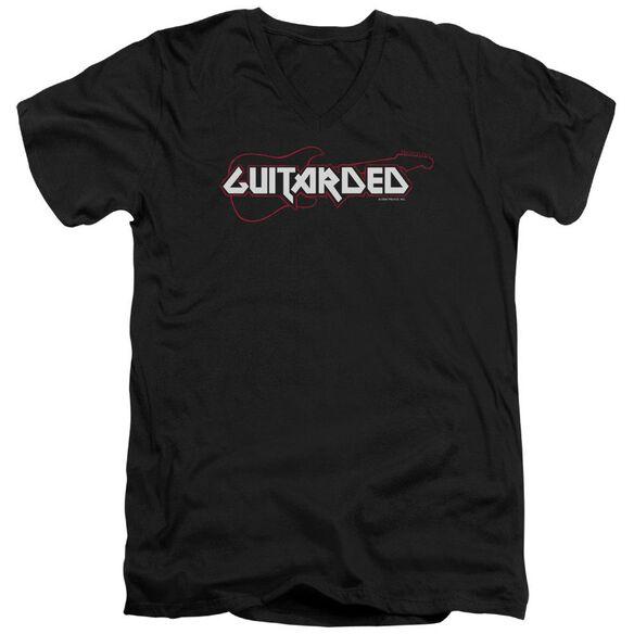 Guitarded Short Sleeve Adult V Neck T-Shirt