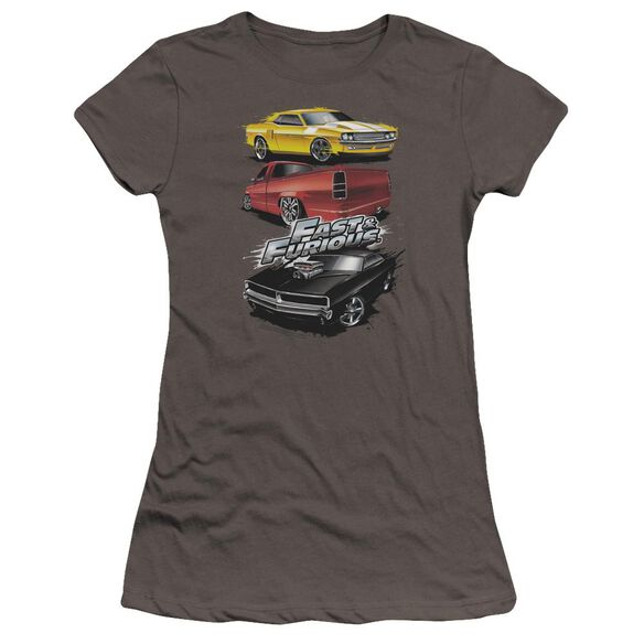 Fast And The Furious Muscle Car Splatter Premium Bella Junior Sheer Jersey