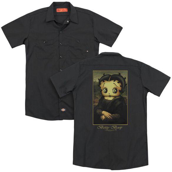Betty Boop Boopalisa (Back Print) Adult Work Shirt