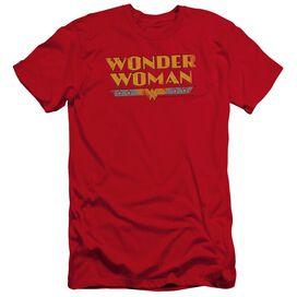 Dc Wonder Woman Logo Premuim Canvas Adult Slim Fit