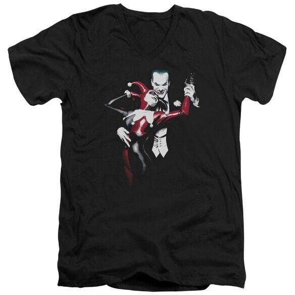 Batman Harley And Joker Short Sleeve Adult V Neck T-Shirt