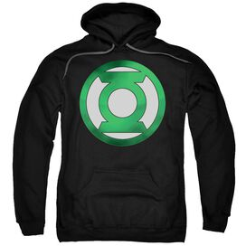 Green Lantern Green Chrome Logo Adult Pull Over Hoodie
