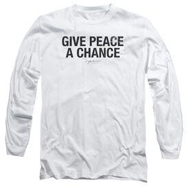 John Lennon Give Peace A Chance Long Sleeve Adult T-Shirt