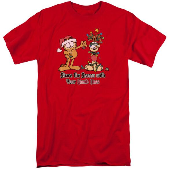 Garfield Share The Season Short Sleeve Adult Tall T-Shirt
