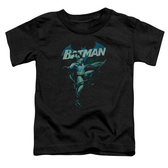 Batman Blue Bat Short Sleeve Toddler Tee Black Sm T-Shirt