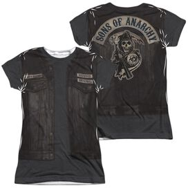 Sons Of Anarchy Juice Costume (Front Back Print) Short Sleeve Junior Poly Crew T-Shirt