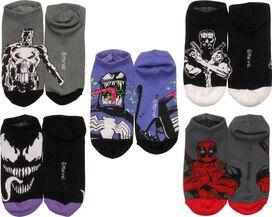 Marvel Comics Mixed 5 Pair Ankle Socks Set