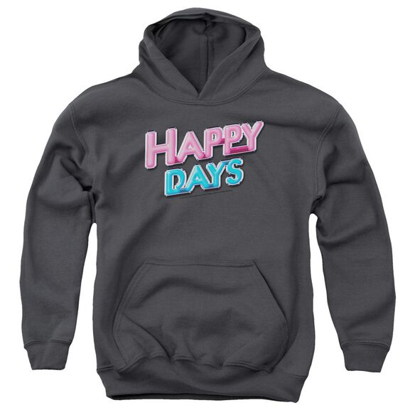 Happy Days Happy Days Logo Youth Pull Over Hoodie