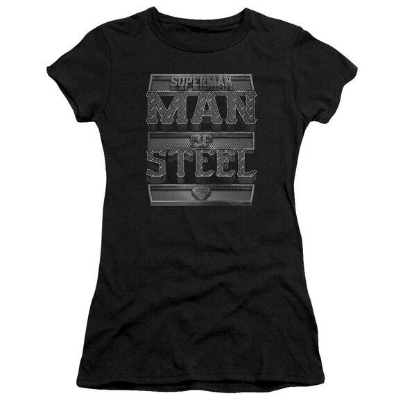 Superman Steel Text Premium Bella Junior Sheer Jersey