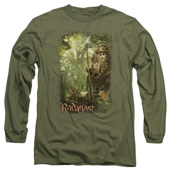 The Hobbit In The Woods Long Sleeve Adult Military T-Shirt