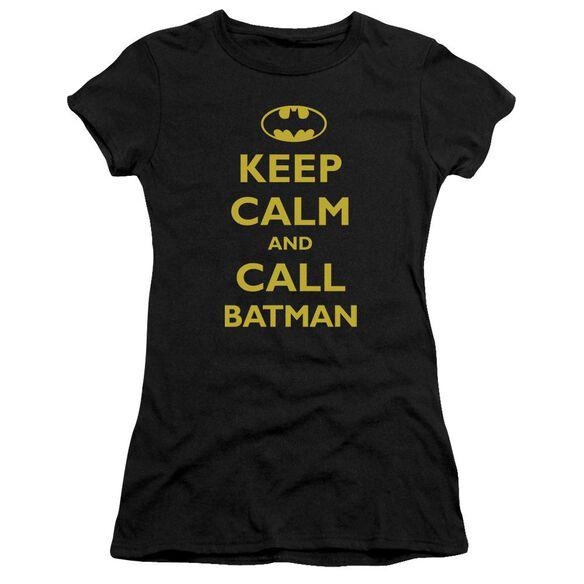 Batman Call Batman Short Sleeve Junior Sheer T-Shirt