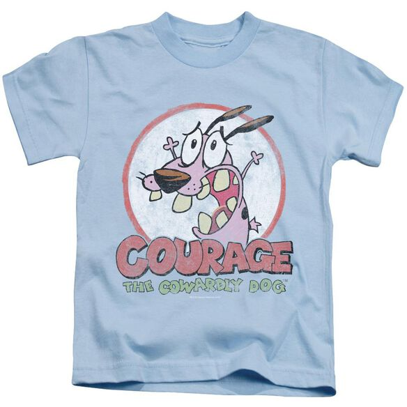 Courage The Cowardly Dog Vintage Courage Short Sleeve Juvenile Light Blue T-Shirt