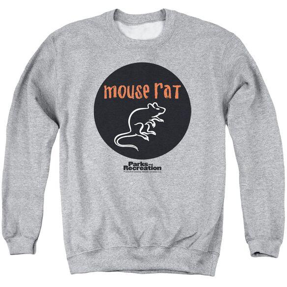 Parks & Rec Mouse Rat Circle Adult Crewneck Sweatshirt Athletic