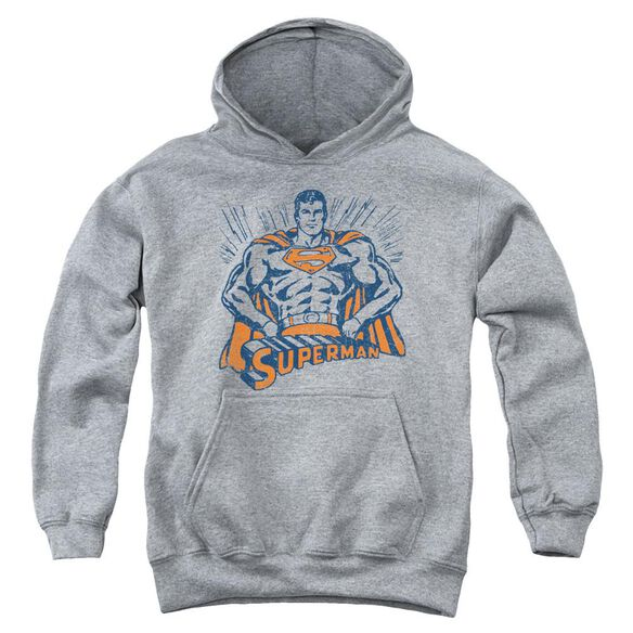 Superman Vintage Stance Youth Pull Over Hoodie Athletic