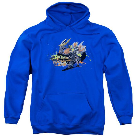 Dark Knight Rises Back In The Game Adult Pull Over Hoodie Royal