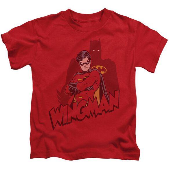 Batman Wingman Short Sleeve Juvenile Red Md T-Shirt