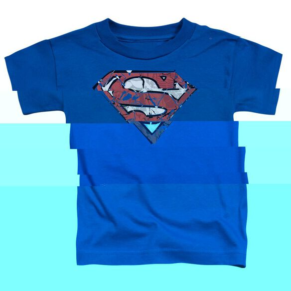 SUPERMAN RIPPED AND SHREDDED - S/S TODDLER TEE - ROYAL BLUE - T-Shirt