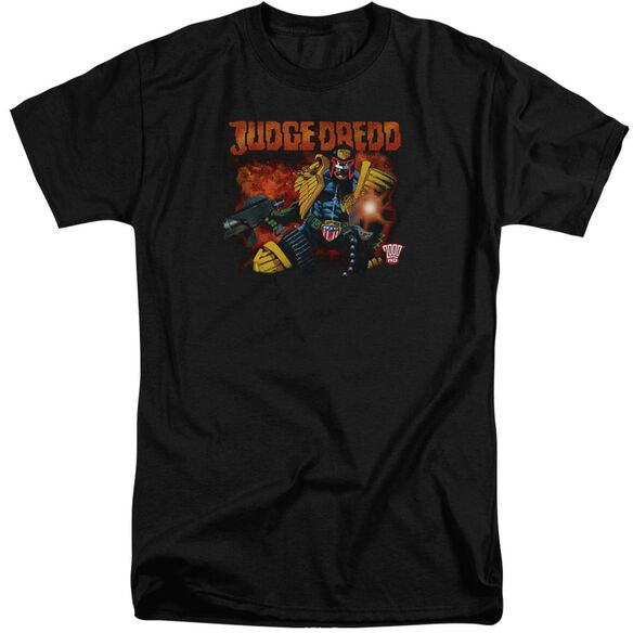 Judge Dredd Through Fire Short Sleeve Adult Tall T-Shirt