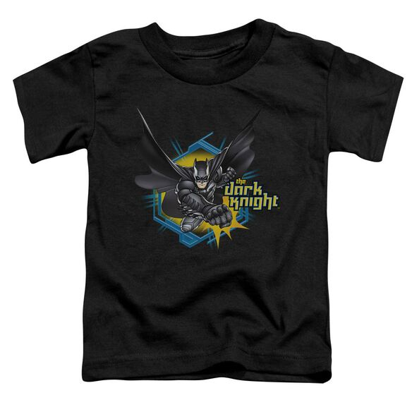 Dark Knight Hexagon Punch Short Sleeve Toddler Tee Black T-Shirt