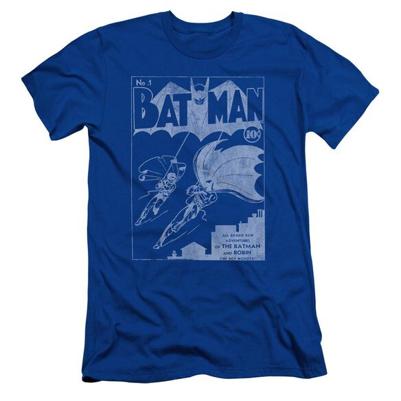 Batman Issue 1 Cover Short Sleeve Adult Royal T-Shirt