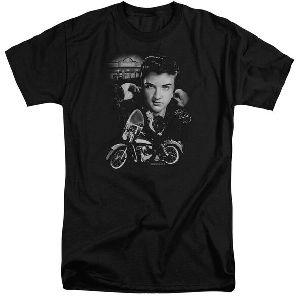 Elvis The King Rides Again Short Sleeve Adult Tall T-Shirt