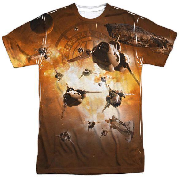 Bsg Dog Fight Short Sleeve Adult Poly Crew T-Shirt