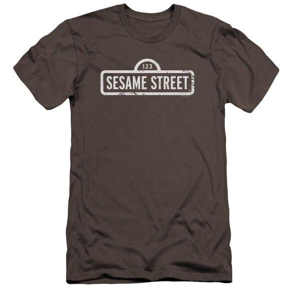 Sesame Street One Color Logo Premuim Canvas Adult Slim Fit