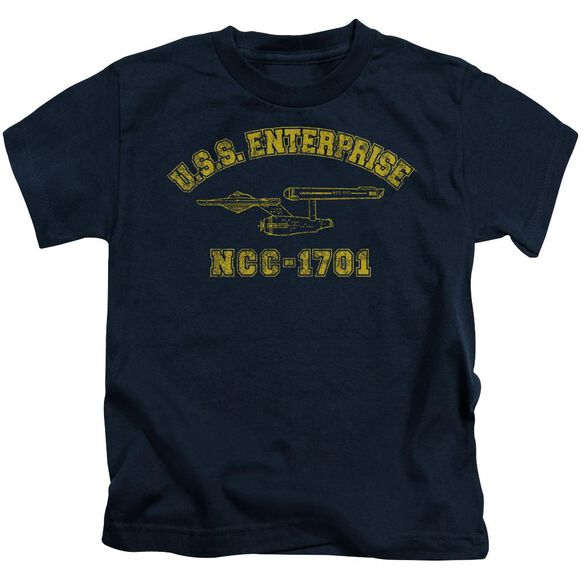 Star Trek Enterprise Athletic Short Sleeve Juvenile Navy T-Shirt