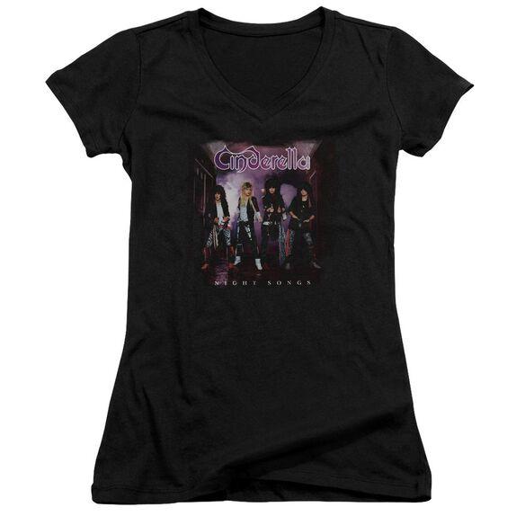 Cinderella Night Songs Junior V Neck T-Shirt