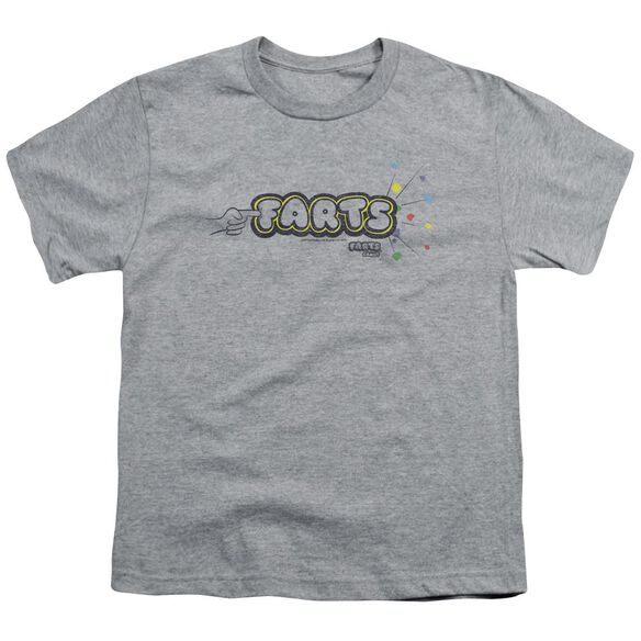 Farts Candy Finger Logo Short Sleeve Youth Athletic T-Shirt
