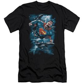 Superman Stormy Flight Short Sleeve Adult T-Shirt
