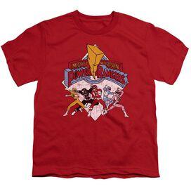 Power Rangers Retro Rangers Short Sleeve Youth T-Shirt