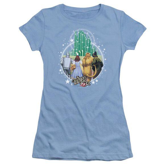 Wizard Of Oz Emerald City Short Sleeve Junior Sheer Carolina T-Shirt