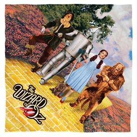 Wizard Of Oz On The Road Poly 22 X22 Bandana White
