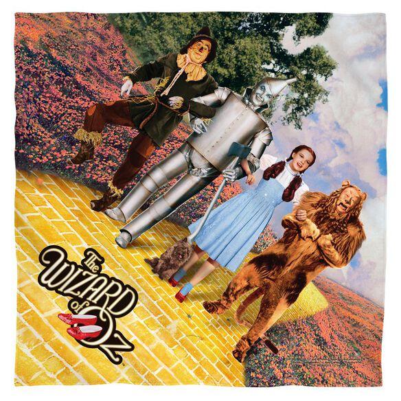 Wizard Of Oz On The Road Poly 22 X22 Bandana White