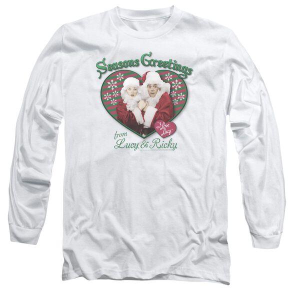 I Love Lucy Seasons Greetings Long Sleeve Adult T-Shirt