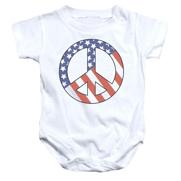 Patriot Peace Infant Snapsuit White