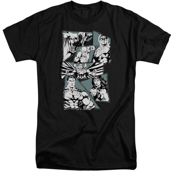 Jla A Mighty League Short Sleeve Adult Tall T-Shirt