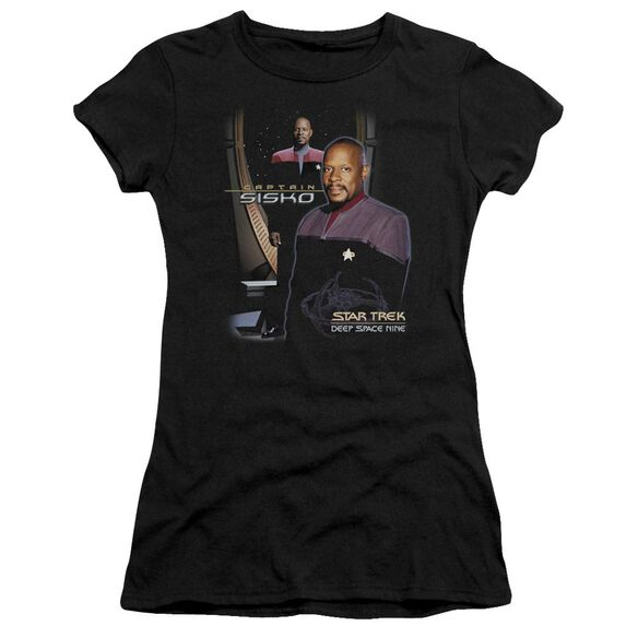 Star Trek Captain Sisko Short Sleeve Junior Sheer T-Shirt