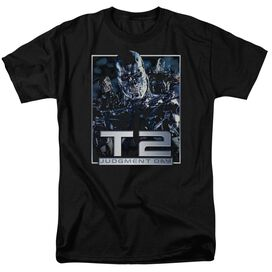 Terminator 2 T2 Robots Short Sleeve Adult Black T-Shirt