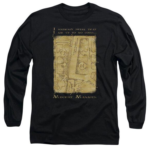Harry Potter Marauders Map Interior Words Long Sleeve Adult T-Shirt