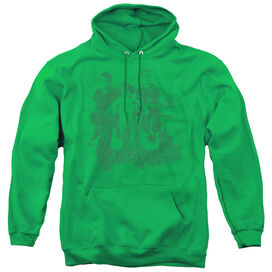 Little Rascals The Gang - Adult Pull-over Hoodie - Kelly Green
